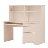 Canwood Desk with Hutch in White