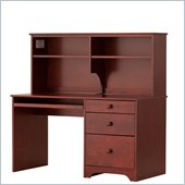 Canwood Desk with Hutch in Cherry