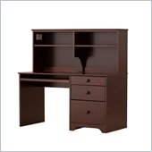 Canwood Desk with Hutch in Espresso