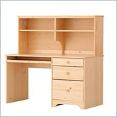 Canwood Desk with Hutch in Natural