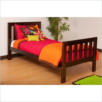 Canwood Alpine II Twin Bed in Espresso