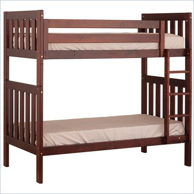 Canwood Alpine II Twin over Twin Bunk Bed w/ Vertical Ladder/Rail in Cherry