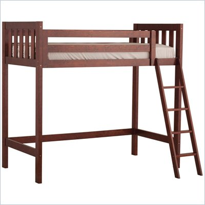 Canwood Alpine II Twin Loft Bunk Bed in Cherry