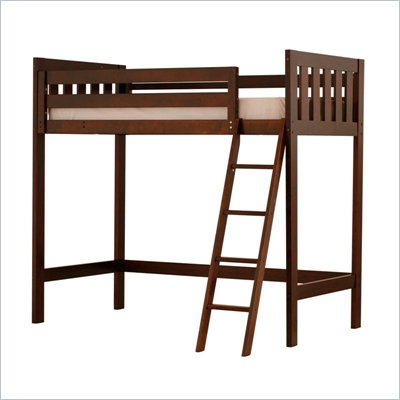 Canwood Alpine II Twin Loft Bunk Bed in Espresso