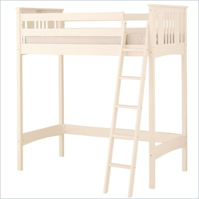 Canwood Base Camp Loft Bunk Bed in White