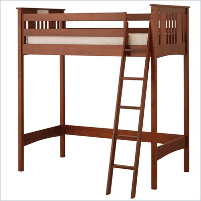 Canwood Base Camp Loft Bunk Bed in Cherry