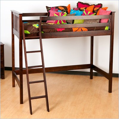 Canwood Base Camp Loft Bunk Bed in Espresso