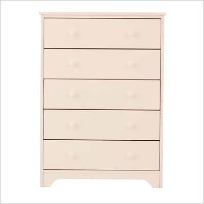 Canwood 5 Drawer Chest in White