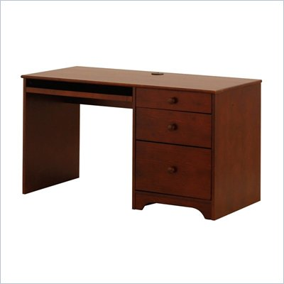 Canwood Single Pedestal Desk in Espresso