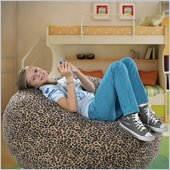 Comfort Magic Memory Foam Large Leopard Lounge Bag
