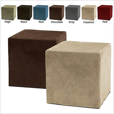 Comfort Magic Deluxe Memory Foam Cube Ottoman