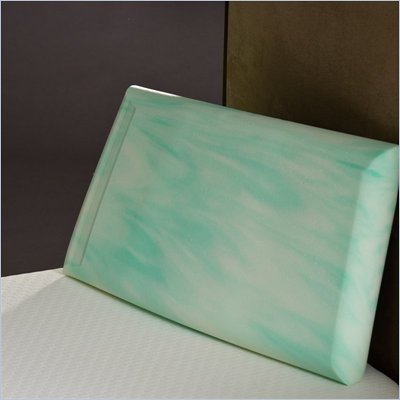 Comfort Magic Enviro-Green Crowned Low Profile Memory Foam Pillow
