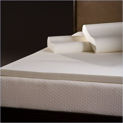 Comfort Magic 2-inch Memory Foam Mattress Topper with Contour Pillows