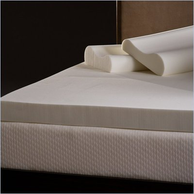 Comfort Magic 4-inch Memory Foam Mattress Topper with Contour Pillows