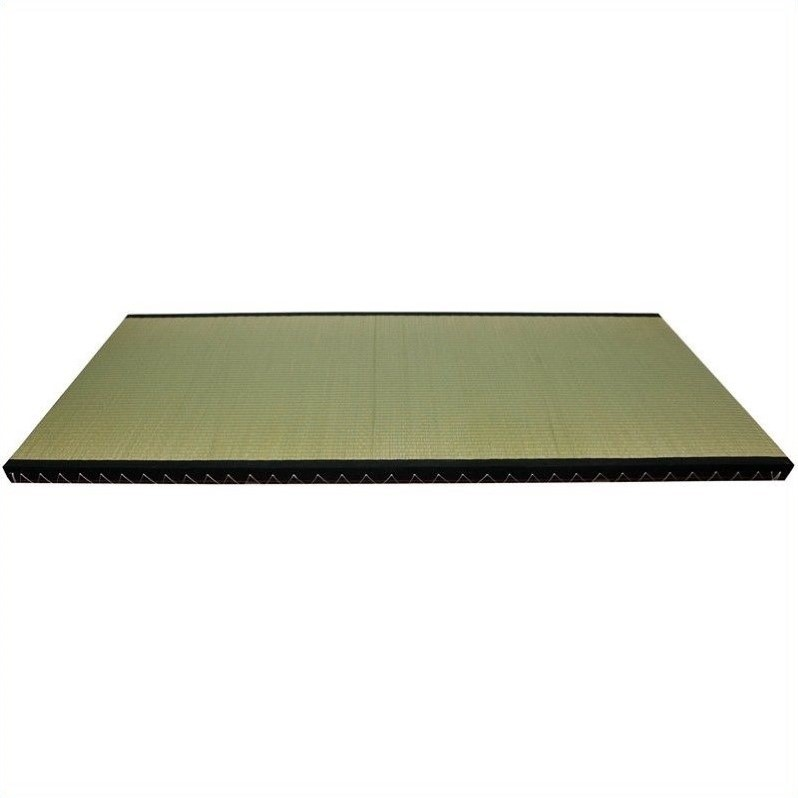 Oriental Furniture Euro Tatami Mat with Black Fabric Border