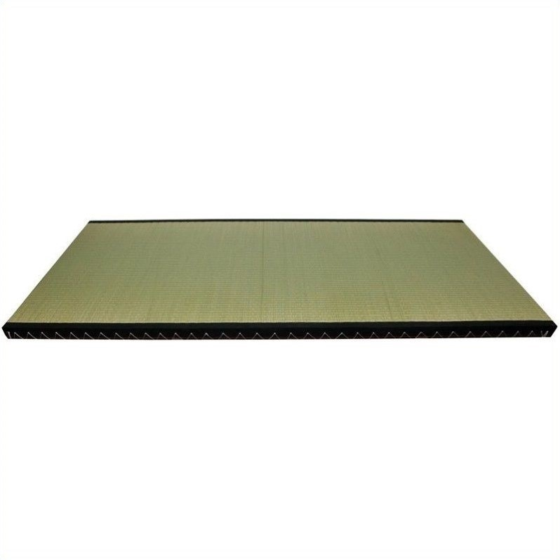 Oriental Furniture Tatami Mat with Black Fabric Border-California King