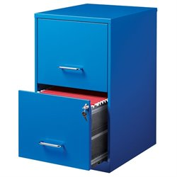 Hirsh 2 Drawer File Cabinet in Blue