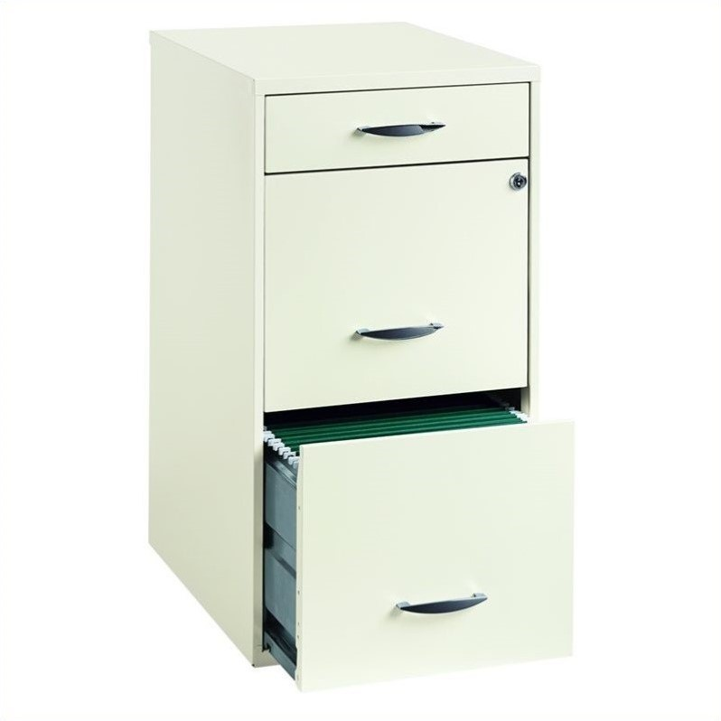 industries 18 deep 3 drawer steel file white filing cabinet ebay