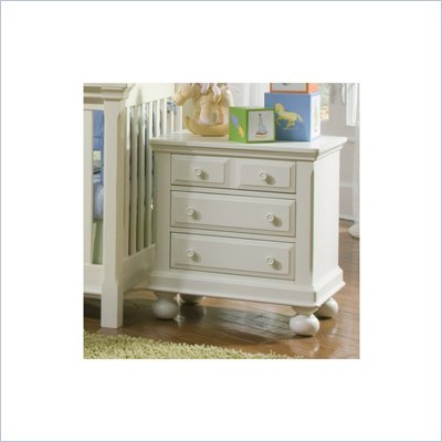 Creations Baby Summer's Evening Nightstand in Rubbed White