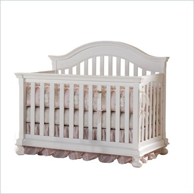 Creations Baby Summer's Evening Convertible Crib in Rubbed White