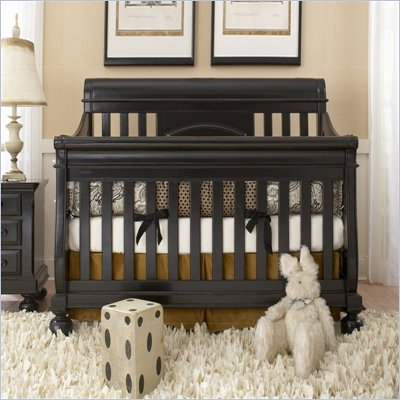 Creations Baby Summer's Evening Sleigh Crib in Antique Black