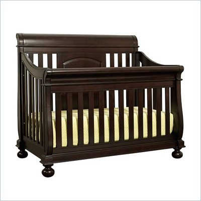 Creations Baby Summer's Evening Sleigh Crib in Espresso