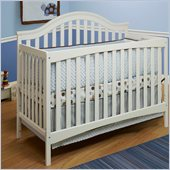 Sb2 by Sorelle Lynn 4-in-1 Convertible Crib with Mini Rail in White