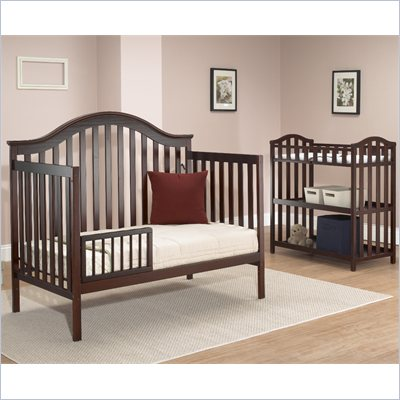 Sb2 by Sorelle Lynn 4-in-1 Convertible Crib with Mini Rail in Merlot