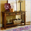 ADD TO YOUR SET: Hammary Canyon Sofa Table in Mission Oak