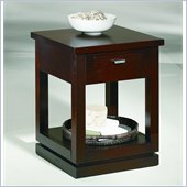 Hammary Kanson Side Table in Oxblood