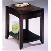 Hammary Kanson End Table in Oxblood