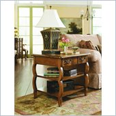 Hammary Siena Rectangular Storage End Table in Tuscany
