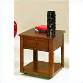 Hammary Nuance Rectangular Drawer End Table in Cherry