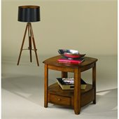 Hammary Primo Rectangular Drawer End Table in Brown