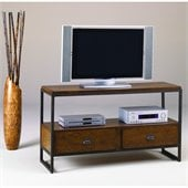 Hammary Baja Entertainment Console Table in Umber