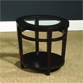 Hammary Urbana Round End Table in Merlot
