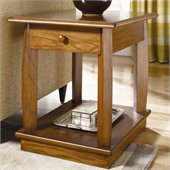 Hammary Ascend Rectangular Drawer End Table in Merlot