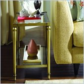 Hammary Elipse Chairside Table in Champagne
