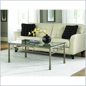 Hammary Hudson Rectangular Cocktail Table in Bronze