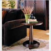 Hammary Magellan Round Pedestal End Table in Chocolate