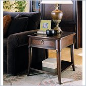 Hammary Magellan Drawer End Table in Chocolate