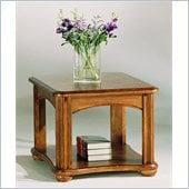 Hammary Fremont Rectangular End Table in Dark Ash