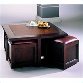 Hammary Kanson Storage Cocktail Table in Oxblood
