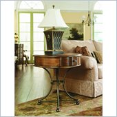 Hammary Siena Round Storage End Table in Tuscany