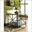 ADD TO YOUR SET: Hammary Crossnore Rectangular End Table in Dark Brass