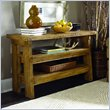 ADD TO YOUR SET: Hammary Luberon Console Table in Weathered Pine Finish