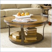 Hammary Vero Round Cocktail Table in Almond Finish