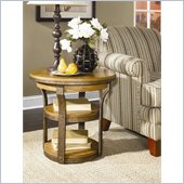 Hammary Vero Round End Table in Almond Finish