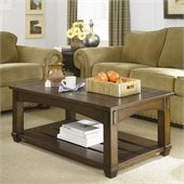 Hammary Tacoma Rectangular Lift Top Cocktail Table in Rustic Brown