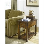 Hammary Tacoma Chairside Table in Rustic Brown